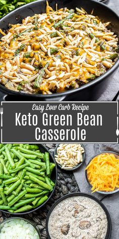 This easy Keto GReen Bean Casserole recipe is a low carb alternative to your favorite Thanksgiving and Christmas side dish. Made with fresh green beans, and homemade keto cream of mushroom soup this simple homemade keto side dish will be everyone's new favorite! #ketorecipes #ketodiet #keto #greenbeans #cassserole #thanksgiving #Christmas Keto Side Dishes, Side Dishes Easy, Side Dish Recipes, Low Carb Recipes, Dinner Recipes, Diabetic Recipes, Casserole Dishes, Casserole Recipes, Christmas Side Dishes