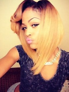 That bob tho - http://www.blackhairinformation.com/community/hairstyle-gallery/relaxed-hairstyles/bob-tho/ #bob #blonde