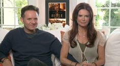 """Their first professional collaboration, husband and wife Mark Burnett and Roma Downey invite The Seven Sees into their Malibu, California home to talk about their 5-part History Channel miniseries, """"The Bible."""""""