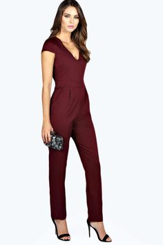 Sophie Structured Neckline Woven Jumpsuit alternative image