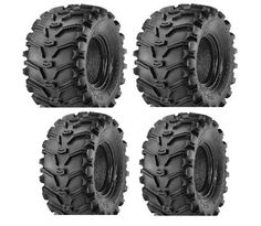 2 FRONT 25-8-12 & 2 REAR 25-10-12 ATV Kenda Bearclaw TIRES. For product info go to:  https://www.caraccessoriesonlinemarket.com/2-front-25-8-12-2-rear-25-10-12-atv-kenda-bearclaw-tires/