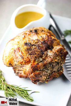 This slow roasted pork shoulder is so easy to make and really flavorful and juicy. Slow cook for about 25 minutes per lb. Roast Pork Shoulder Oven, Pork Roast In Oven, Pork Shoulder Recipes, Pork Roast Recipes, Pot Roast, Meat Recipes, Cooking Recipes, Game Recipes, Smoker Recipes