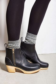 Swedish Hasbeens Zip It Emy Ankle Boot