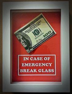 100 Dollar Bill  In Case of Emergency Break by DaisyChainOnline, $14.99