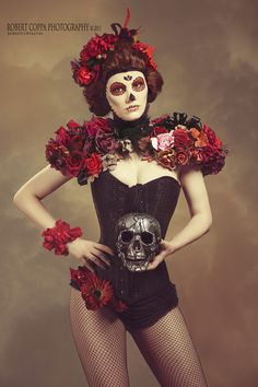 Maquiagem artística no dia dos mortos no México