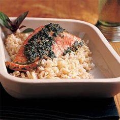 Easy Pesto Salmon | MyRecipes.com