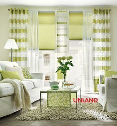 Unland Swing, Fensterideen, Vorhang, Gardinen und Sonnenschutz - curtains, contract fabrics, pleated blinds, roller blinds and more. Made in Germany