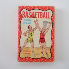 Vintage Basketball Card Game • Vintage Built Rite Cards • Vintage Warren Paper Products Cards • Altered Art Supplies by lisabretrostyle on Etsy