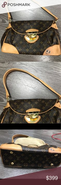 Auth Louis Vuitton shoulder bag w/damage 😮 Authentic Louis Vuitton bag but unfortunately it has been damaged.. the bag is beautiful and can be professionally cleaned and fixed.. great style.. damage is pictured.. corner has black mark/scratches on corner... another part on side leather... other then that the bag is in good condition... clean inside, no tears. Louis Vuitton Bags Shoulder Bags