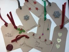 handcrafted gift tags... Beautiful addition to the bespoke wrapping service provided by.. liz@somethinggiven.co.uk