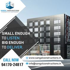 One of the leading #ConstructionCompanies, the Sangal Constructions, delivers its #reliable #building construction services in all areas of #NorthIndia, #Haryana, #Punjab, and #Ludhiana since their establishment in 2001. They have highly #educated and trained #workers, #engineers, and #designers. They contain powerful #machinery to assist the #work on large #scale.