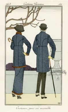 Costumes pour un ensemble by Bernard Boutet de Monvel 1913.