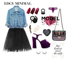 """""""Edgy minimal"""" by alkpits on Polyvore featuring Valentino, Mimi Holliday by Damaris, Ballet Beautiful, Napoleon Perdis, MAC Cosmetics, Yves Saint Laurent and BaubleBar"""