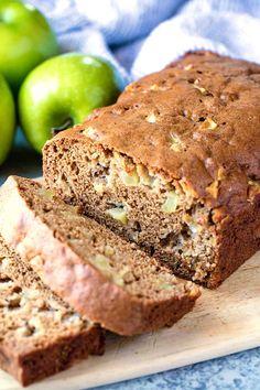 Moist Cinnamon Apple Bread - thestayathomechef.com Moist Apple Bread Recipe, Apple Cinnamon Bread, Quick Bread Recipes, Pastry Recipes, Cinnamon Apples, Apple Recipes, Fall Recipes, Applesauce Bread, Egg Recipes