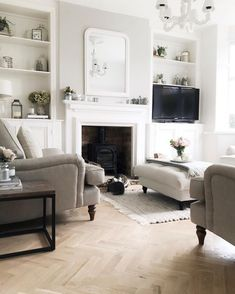 cottage living rooms new living room victorian living room living room decor Colourful Living Room, New Living Room, Living Room Sets, Living Room Interior, Living Room Designs, Alcove Ideas Living Room, Cottage Living, Coastal Living, Living Room Wooden Floor