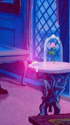 I never noticed the table details. Magical Rose Phone Wallpaper • Lock Screen {Beauty and the Beast, Disney}