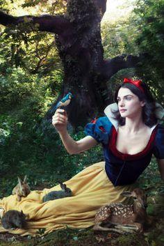 A close up! I love Disney and Annie Leibovitz. :)