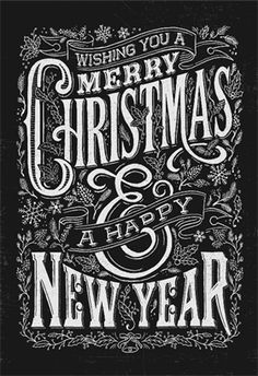 Vintage Christmas And New Year Chalkboard Typography Lockup Stock Vector - Illustration of inscription, grunge: 48571643 Chalkboard Typography, Chalk Lettering, Vintage Typography, Lettering Design, Vintage Logos, Graphics Vintage, Retro Logos, Lettering Ideas, Vector Graphics
