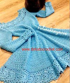 Crochet Dress for Women Free Pattern - crochet - Skirts & Dresses - Crochet Crochet Kids Hats, Crochet Gloves, Crochet Beanie, Crochet Books, Crochet Poncho, Mode Crochet, Crochet Skirts, Crochet Patterns Free Dress, Knitting Dress Pattern