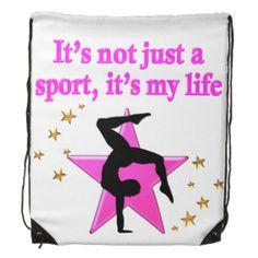 PRECIOUS PINK STAR GYMNASTICS INSPIRATIONAL QUOTE Fantastic selection of Gymnastics nap sacks and back packs http://www.zazzle.com/mysportsstar/gifts?cg=196751399353624165&rf=238246180177746410   #Gymnastics #Gymnast #WomensGymnastics #Gymnastgift #Lovegymnastics #Gymnastnapsack #GymnastbackpackDRAWSTRING BAG