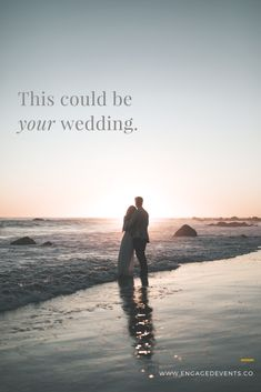 A beach wedding does