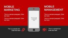 Mobile Marketing App Screenshot Slide Design for Social Media presentations and dashboard in PowerPoint #PowerPoint #templates #socialmedia