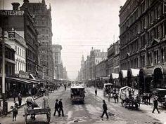 Elizabeth Street, Melbourne, looking north from Flinders Street, about 1900