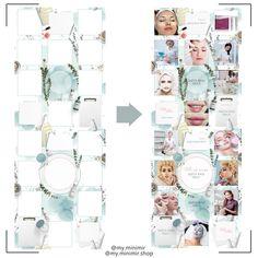 Instagram Grid, Instagram Frame, Instagram Design, Instagram Feed Theme Layout, Instagram Story Template, Puzzle Frame, Pencil Test, Inspiration Artistique, Grid Layouts