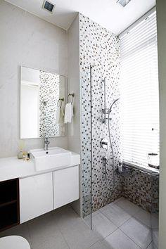 Mosaic Tiles Plain Front On Vanity Colours