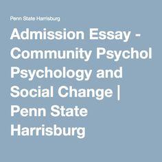 psu admissions essay