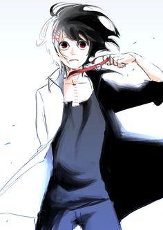 Juuzou Suzuya. His hair is black in the one shot :)