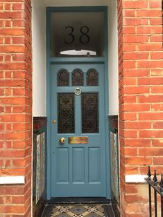 Stone Blue front door - Farrow and Ball & London Doors Front Door Victorian / Edwardian Door | Doll\u0027s House ...