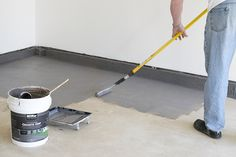 How to coat your garage floor or concrete for a clean look and big difference! Durable and easier than epoxy, Behr Premium Granite Grip is as easy to apply as rolling paint.