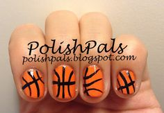Learn how to make basktball nails here! <3