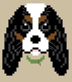 chien - dog - broderie - cross stitch- Cavalier - Point de croix - Blog : http://broderiemimie44.canalblog.com/