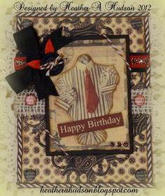 Masculine Birthday Card  by  Heather Hudson  for   Gecko Galz