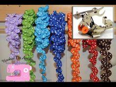 ▶ Make ruffle ribbon ric rac with ruffle foot - YouTube