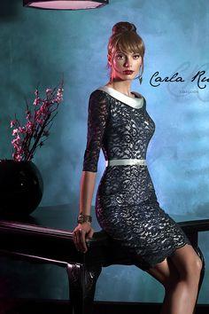 Vestido de madrina corto en blonda modelo 92893 Carla Ruiz by Carla Ruiz | Boutique Clara