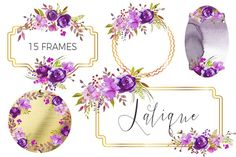Lalique-embellished floral frames. - Illustrations