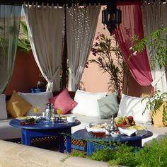 Cool Courtyards and Patio Garden Maroccan Style Design and Decorating Ideas