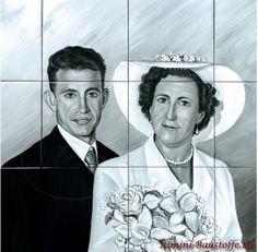 #Fliesenbild Hochzeitsportrait das fertige Ergebnis