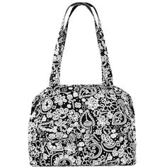 Thirty One Gifts CASUAL CARGO PURSE Black Paisley Parade - PERFECT for the woman on the go! Super stylish Diaper Bag? YES! Every day purse and/or tote? YES! Church bag? YES! This is seriously one of my FAVES!