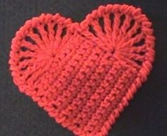Left Hand Crochet Easy Heart, video