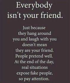Real situations expose fake people, PAY ATTENTION