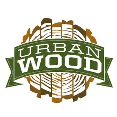 """Logo created for Habitat for Humanity of Dane County (Wisconsin)'s """"Urban Wood"""" program, sold through their ReStores. This program salvages local trees marked for removal and mills them into high-quality flooring. See more at http://www.restoredane.org/urban-wood/"""