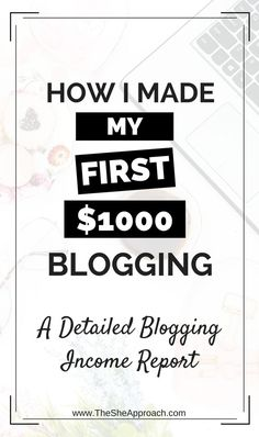 Is making money blogging a dream of yours? Learn how I made my first $1000 blogging, affiliate marketing tips, blog traffic and income report and more advice for new bloggers. Affiliate tips for bloggers, blog monetization strategies, new bloggers help and more.