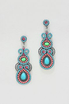 Athena Earrings in Greek Turquoise