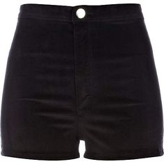 Really cute black corduroy high waisted shorts. Simple and cute looking. -DH