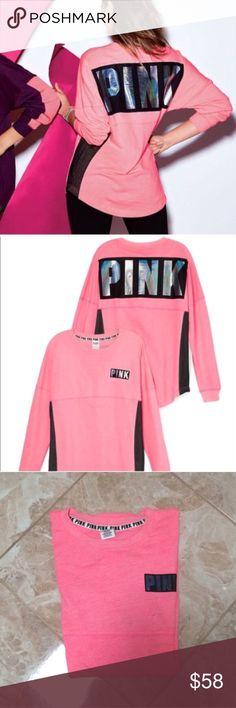 💢Last One💢Vs Pink Crew Brand new. Size Large. Price is firm. PINK Victoria's Secret Sweaters Crew & Scoop Necks