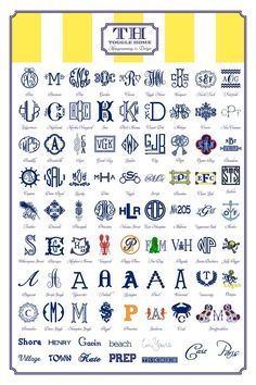 monogram fonts and styles